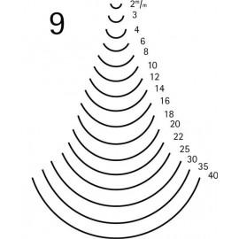 Gubia curvada corte 9