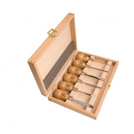 Juego de gubias mango de pera Kirschen en caja de madera