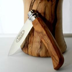 Navaja con bloqueo, tapas en madera de EBANO