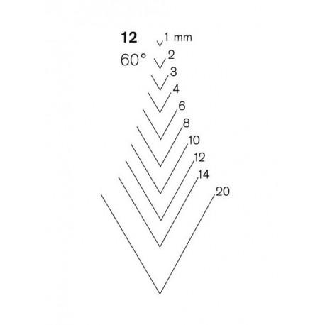 Gubia Pfeil Buril forma 12
