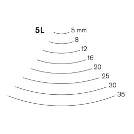 Gubia Pfeil curvada corte 5 L