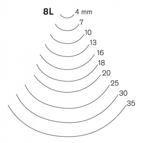 Gubia Pfeil curvada corte 8 L