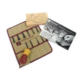 Flexcut Palm Handled Carving Tool Set, 11 piece SK 107