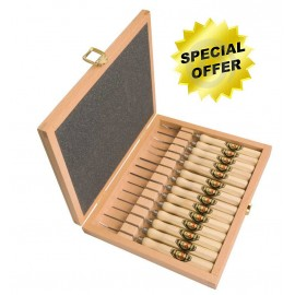 Set of 14 micro carving tools