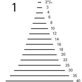 Gubia corte 1 plano tipo formon ref. 3101