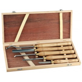 Turning tool set, 5 pieces ref. A1009